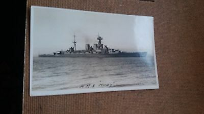 """Lot.a92. """" H.m.s. Hood """". Unposted"""