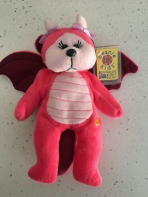 """Beanie Kids """"Ember"""" the dragon bear retired with combined postage"""