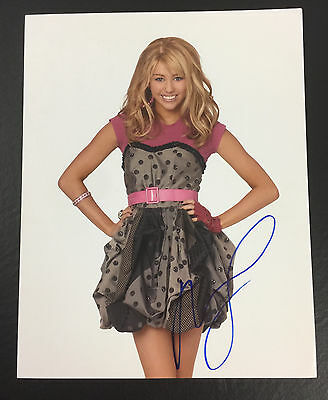 MILEY CYRUS SIGNED AUTOGRAPHED DISNEY'S HANNAH MONTANA 11x14 PHOTO PROOF COA 1
