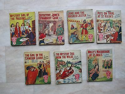 7 x THE SCHOOLGIRLS' OWN LIBRARY  No: 96 121 133 143 144 151 154 - 1950s Vintage