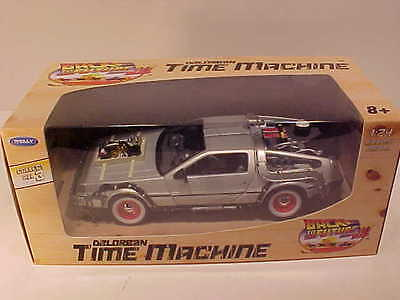 BACK TO THE FUTURE Part 3 DeLorean 1981 Time Machine Die-cast 1:24 Welly 7 inch