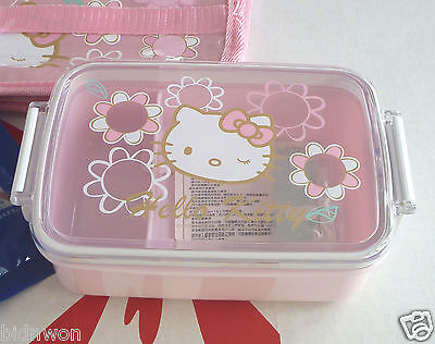 Sanrio HELLO KITTY bento Lunchbox Insulated Thermal bag set Food container ice p