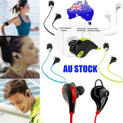 Wireless Bluetooth Headset SPORT Stereo Headphone Earphone for iPhone Samsung #