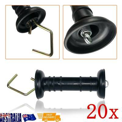 20pcs Durable Heavy Duty Electric Fence Farm Gate Handles With Spring Black