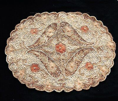 FINE PANEL OF SEQUINNED EMBROIDERY 1930s, Costume, crafts, decorators