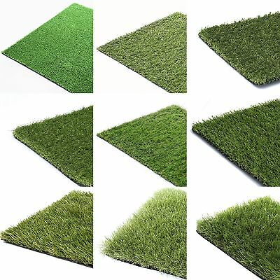 Artificial Grass Astro Turf Cheap Realistic Fake Lawn Natural Green Garden Roll