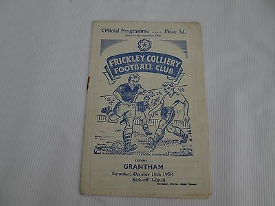 1958-59 MIDLAND COUNTIES LEAGUE FRICKLEY COLLIERY v GRANTHAM