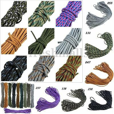 20-300Ft 550 Paracord Parachute Cord Lanyard Mil Spec Type III 7Strand Core Rope