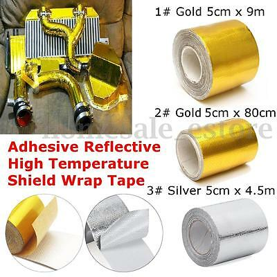 1 Roll Adhesive Reflective Gold / Silver High Temperature Heat Shield Wrap Tape