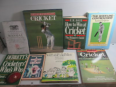 Cricket themed book collection x 33 titles, job lot, sport, history etc