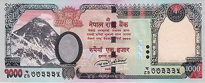 Brand New Rupees-1000 Banknote Nepal 2016/2017 Elephant Uncirculated Unc