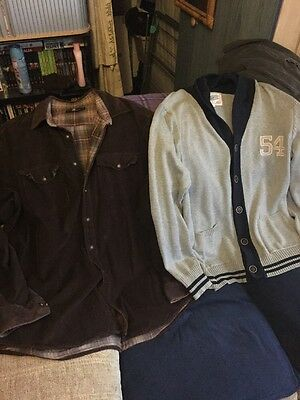 Mens Clothes Bundle- 2 Items- Jacket/Thick Shirt By M&S and Cardigan- Size 2XL