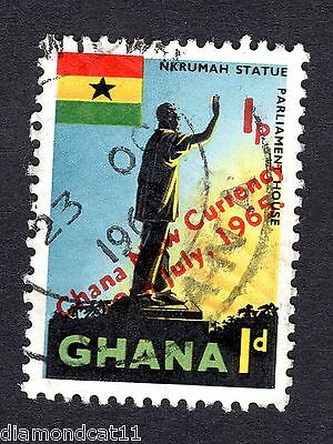 1959 Ghana 1d Nkrumah Statue Accra FINE Used R26739