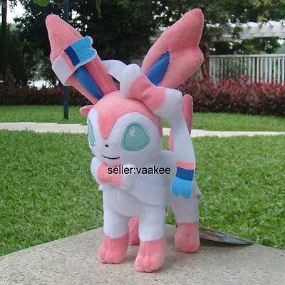 Sylveon Pokemon Go Fairy Eevee Plush Toy Pocket Monster Stuffed Animal Doll 9""