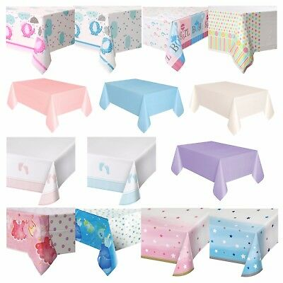 BABY SHOWER TABLECOVERS - Plastic, Tableware, Boy, Girl, Pink, Blue, Unisex