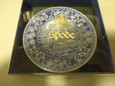 """Spode Blue Room Collection """"Milkmaid""""  Miniature Plate"""