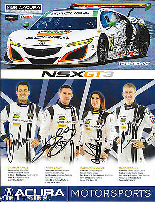 2017 Rolex 24 Daytona SIGNED #93 MSR Acura by Rahal, Legge, Lally, Wilkins