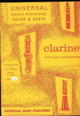 Klotzman Universal Miniatures Solos & Duets for Clarinet Music Book