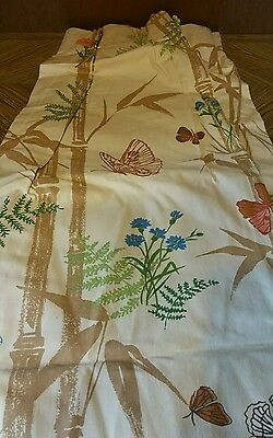 Blue and pink forest retro Curtains Drapes