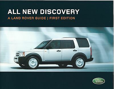 "Land Rover Discovery Sales Brochure  2004 ""A Land Rover Guide - First Edition"""