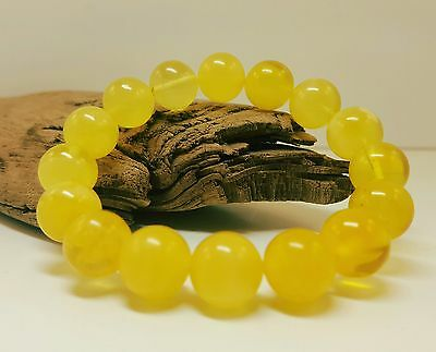 Bracelet Baltic Amber Natural Stone Nr299 15,6g Butterscotch Egg Yolk Bead White