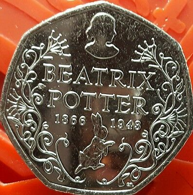 Rare 50p Beatrix Potter 50p Coin 2016 Uncirculated
