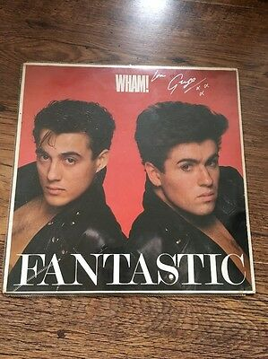 ❣RARE❣️HAND SIGNED BY GEORGE MICHAEL DEMO LP•Fantastic~Wham!