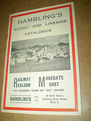 HAMBLINGS MODEL RAILWAYS TOY CATALOGUE 1950's UK EDITION EXCELLENT FOR AGE