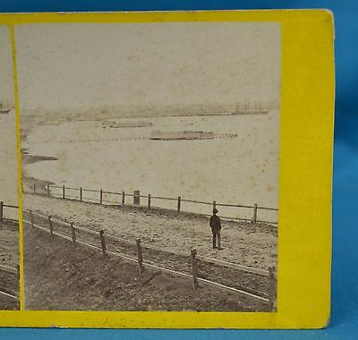 Rare Australian 1860s Stereoview Photo From Eastern Beach Geelong TJ Washbourne