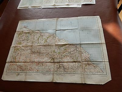 BIG MAP PAPER    56/77 CM  civil defense used in WW2 HOME GUARD WHITBY