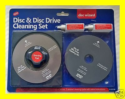 4PC DELUX CD VCD DVD DRIVE LENS DISC CLEANER SET KIT CLEANING Ps4 ps3 Xbox FLUID