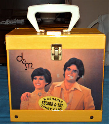 """Donnie and Marie"" 45 Record Carry Case w/Handle (Cardboard) (1977, VG)"