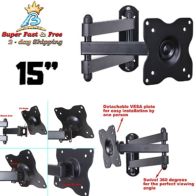NEW TV Wall Mount LCD LED Articulat Swing Arm Full Motion Rotating Monitor Flat
