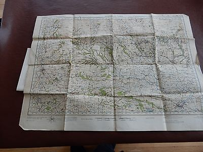 BIG MAP PAPER    56/77 CM  civil defense used in WW2 HOME GUARD PICKERING THIR