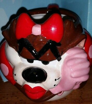 1997 Tasmanian Devil Girlfiiend She-Devil Figural Ceramic Mug