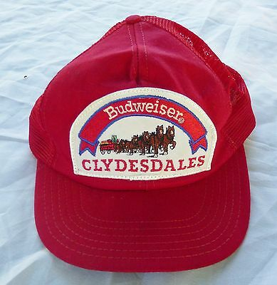 Vintage Budweiser Clydesdales Snapback Hat Made In The Usa