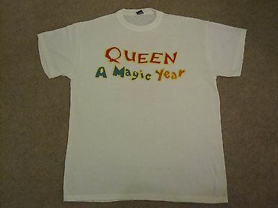 Queen  :  Vintage 1987 - A Kind Of Magic - Concert / Tour T-Shirt