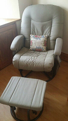 Cloud Nine Deluxe Glider Chair And Stool Fudge