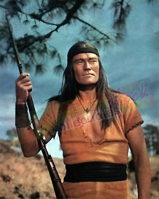 Chuck Connors GERONIMO!  MOVIE (1962)  Apache warrior chief  COLOR PHOTO 8x10