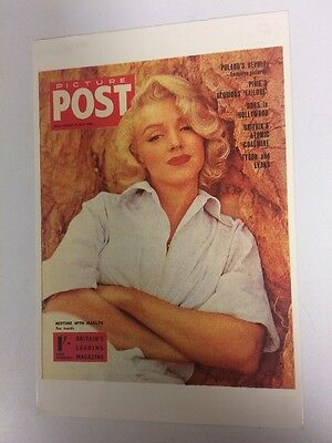 MARILYN MONROE 80s POSTCARD 1956 Picture Post Cover by Milton Greene