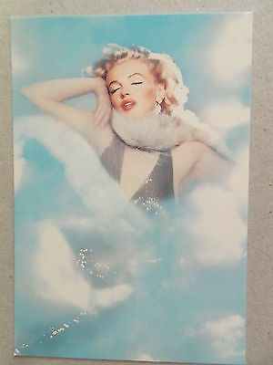 MARILYN MONROE POSTCARD 1957 colour in clouds by Richard Avedon