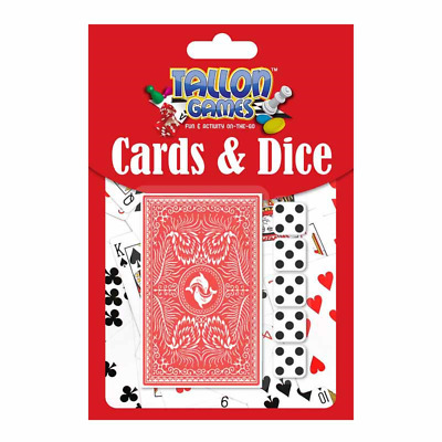 Tallon Card & Poker Set. 2 Decks of Playing Cards and 5 Dice (Great 4 Yahtzee!)-