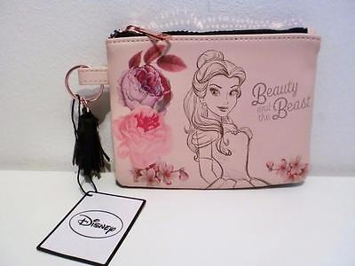 Disney Beauty & The Beast Belle Rose Gold Colour Coin Purse Make Up Pouch Bag