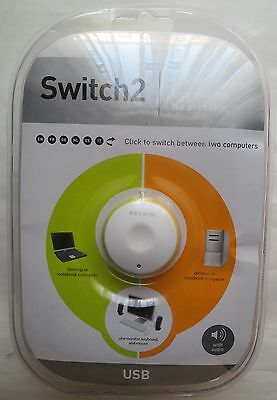 BELKIN Switch 2 - 2-Port KVM Switch with Remote and Audio support USB VGA  *NEW*
