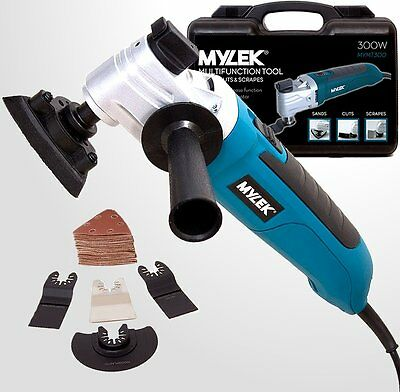 MYLEK 300W Multi Tool Oscillating Multifunction DIY 48 Piece Accessory Kit