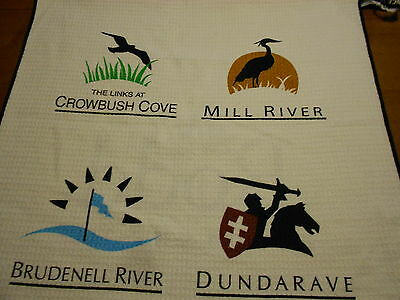 Caddy towel (new without tags) with 4 PEI courses for golf