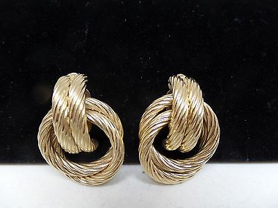 GIVENCHY PARIS Signed Door Knocker Earrings!