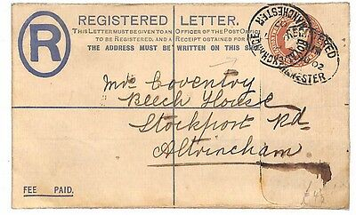 M39 1902 GB *MANCHESTER* Postal Stationery {samweslls-covers}PTS