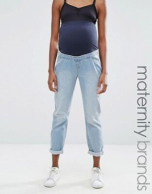 New Look Maternity Over Bump Boyfriend Fit Jeans Size 8