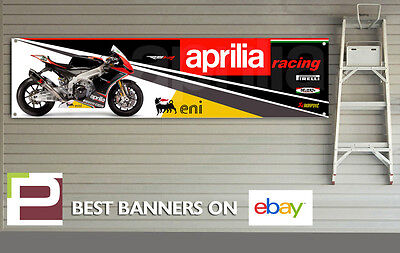 Aprilia Racing RSV4 Banner for Workshop, Garage, Man Cave, 2012, 1300mm x 320mm